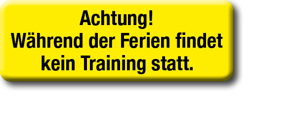 Kein Training Ferien